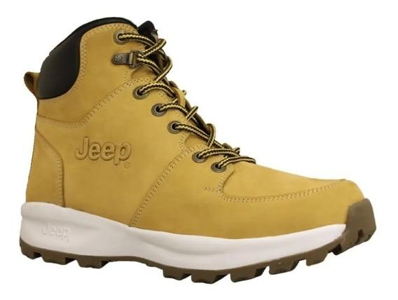 Zapato Jeep Pittsburg Nobuck Color Miel Hombre