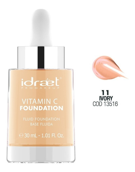 Base Fluida Hd Con Vitamina C Idraet Pro Makeup Profesional