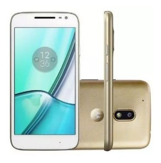 Celular Smartphone Moto G4 16gb Dourado/branco Dtv - Vitrine