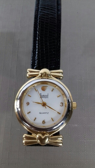 Relógio Feminino Dumont Pulseira Em Couro Original