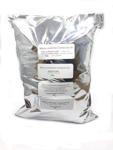 Nutrientes Para Hidroponia-6 Fertilizantes Hortaliças 1000l