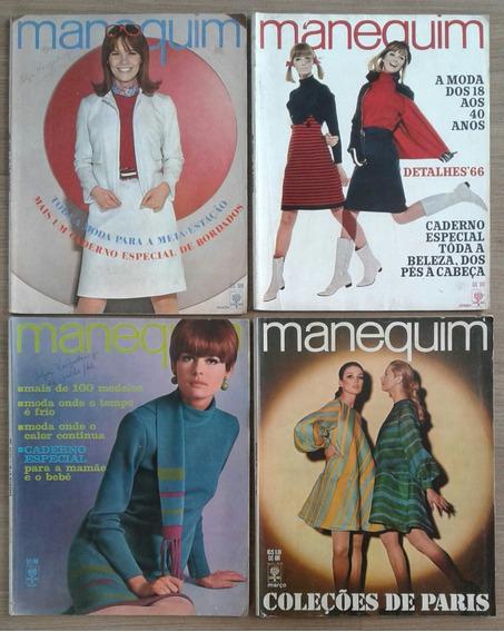 Lote Com 04 Edições Da Revista Manequim, Década De 1960