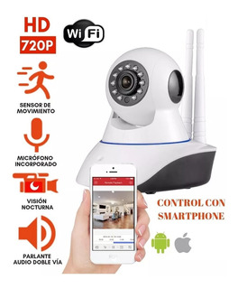 Camara Ip Wifi P2p Hd 720p Kanji Vision Nocturna 3 Antenas