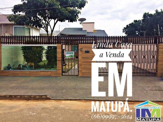 Linda Casa A Venda Em Matupa, Região Dos Lagos