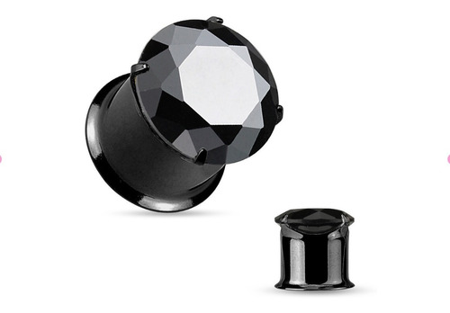 Piercing Expansor Zirconio Negro 5, 6, 8 Y 10mm Piercing Argentina ®