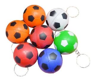 12 Llaveros Pelota De Fútbol De Goma Antiestres