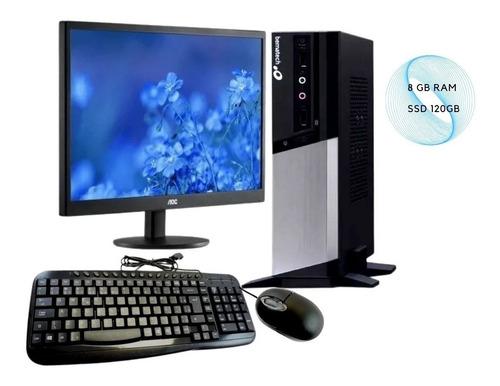 Imagem 1 de 8 de Pdv Rc8400 8 Gb Ram + Monitor Aoc 18.5 Usb + Teclado E Mouse