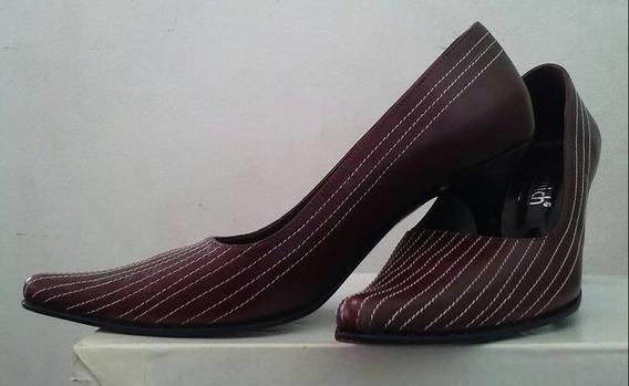 Zapatos Stilletos De Cuero