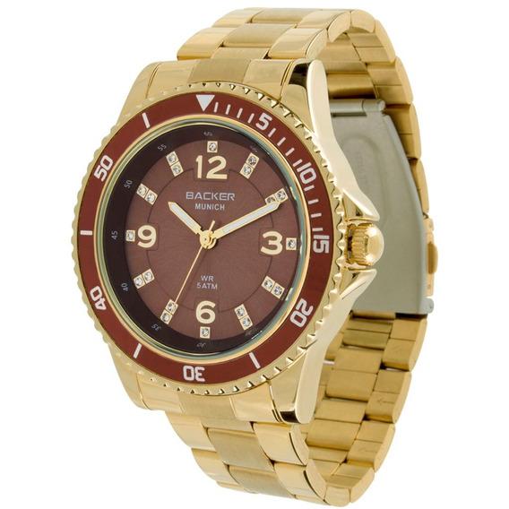 Relógio Feminino Analógico Backer 3415115f Mr - Dourado Fund