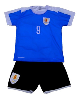 Kit Infantil Conjunto Seleção Uruguai