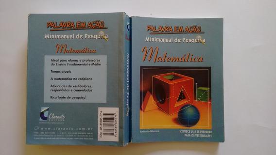 Livro Minimanual De Pesquisa Matemática, Usado, Barato!