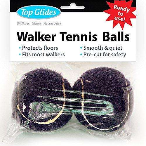 Top Glides Precut Walker Tennis Ball Glides (negro)