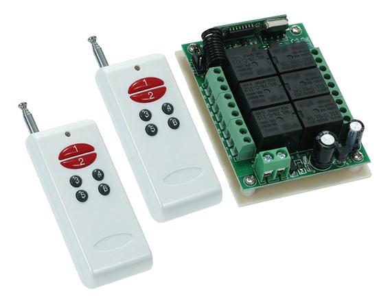 Interruptor De Rf Sem Fio 433 Mhz Longo Alcance Dc12v 6ch At