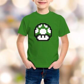 Playera Vida Hongo Mario Bros Luigi Nintendo Niño Niña