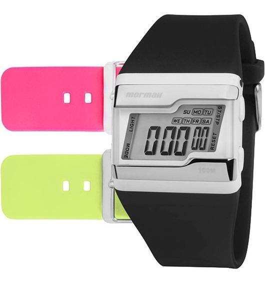 Relógio Mormaii Digital Troca Pulseiras Fz/t8v Original