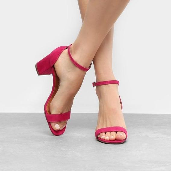 Sandália Santa Lolla Salto Grosso Pink