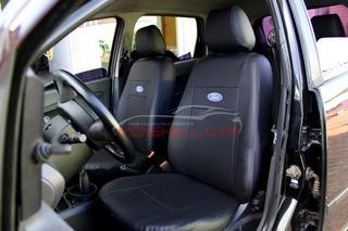Capas Bancos Carro Couro P/ Ford Fiesta 2005 + Porta Revista