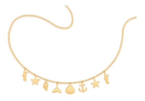 Gargantilha Elementos Do Mar Folheada A Ouro Rommanel 532063
