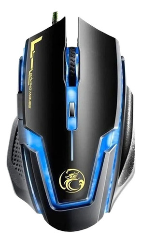 Mouse Gamer Estone X9 Usb Led Óptico 2400 Dpi 6 Botões T55