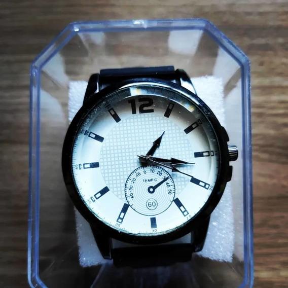 Relógio Masculino Alpha - Black White - Pronta Entrega