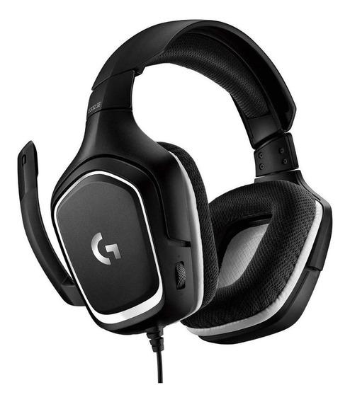 Fone de ouvido gamer Logitech G332 SE black e white