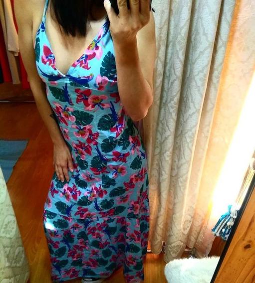 Vestido Largo Con Estampa