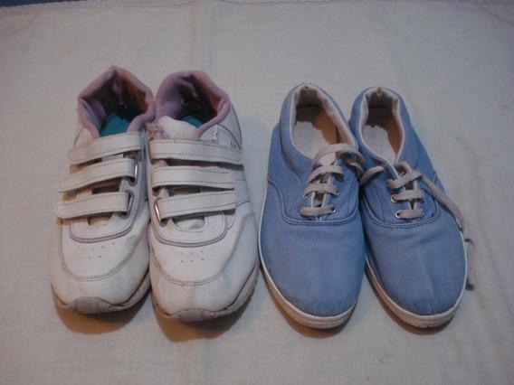 Zapatillas De Mujer N° 39 (x2)