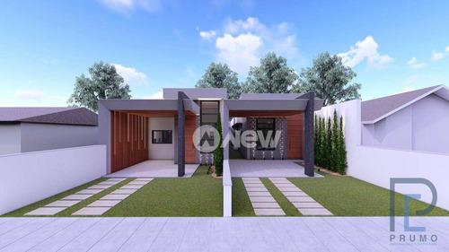 Imagem 1 de 8 de Casa Plana Em Construção Com 3 Dormitórios À Venda, 124 M² Por R$ 550.000 - Paulista - Campo Bom/rs - Ca3945