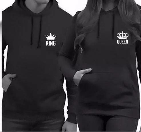 Kit 2 Moletons Raglan Casal King Queen Blusa De Frio Casaco