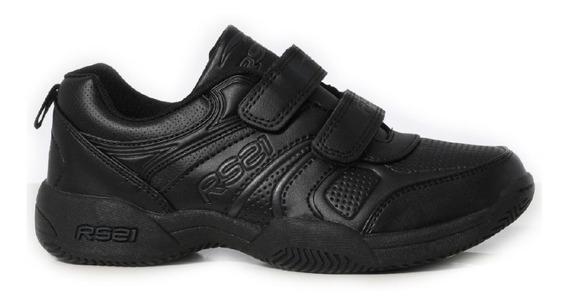 Zapatos Deportivos Colegiales Para Niños Rs Tennis Velcro