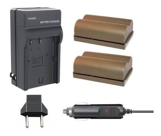 2 Baterias Carregador P/ Canon Eos Slr 40d 50d 300d D30 D60