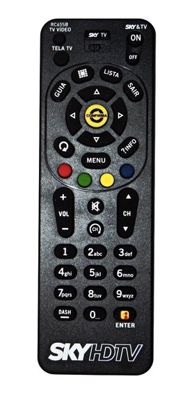 Controle Universal Sky Hd Tvs Original Rc65sb Zapper