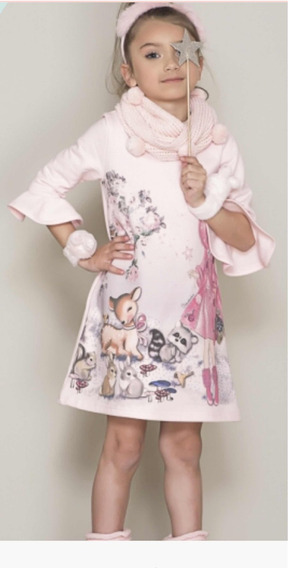 Vestido Moletom Cenário Princesa Pituchinhus 12395