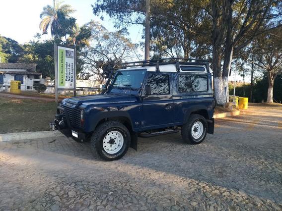 Land Rover Defender 90 Sw - 2002/2002 - Azul E Branca