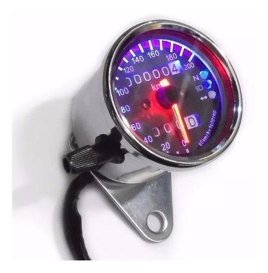 Velocímetro Moto Custom Café Racer Chopper Painel Universal