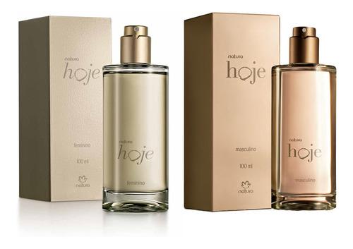 Perfumes Natura Hoje Masculino + Feminino 100 Ml Kit C/2
