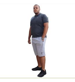 Kit 4 Bermuda Shorts Moletom Plus Size Tamanho Especial
