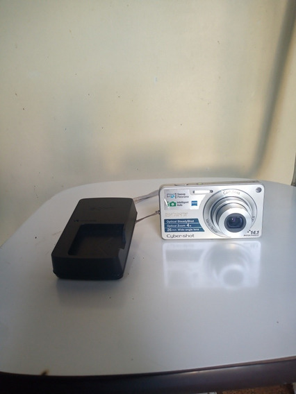 Câmera Sony W350 Funcionando Com Carregador