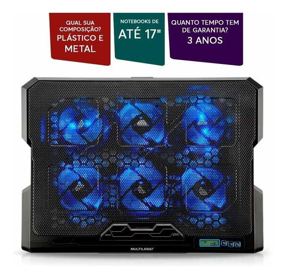 Cooler Hexa Notebook Led Luminoso Base Multilaser Oferta