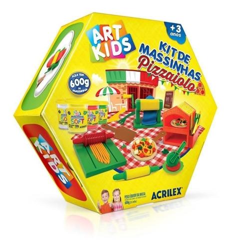 Kit De Massinhas Pizzaiolo Acrilex Art Kids