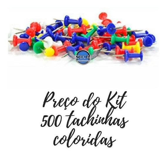 500 Tachinha Colorida Para Quadros Cortiça Mural Feltro Foto