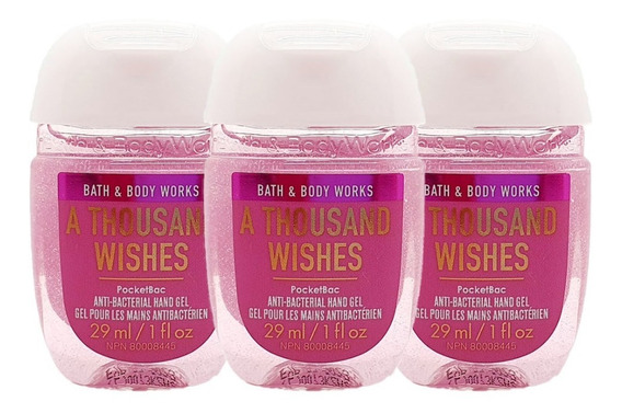 Gel Antibacterial Bath & Body Works A Thousand Wishes 3pz