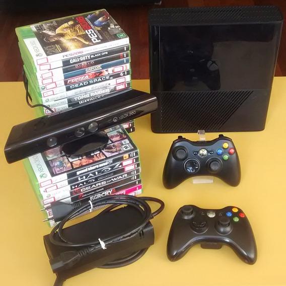 Xbox 360 Completo + Controle + Jogo   Oficial Microsoft