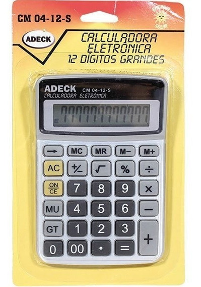 Calculadora Grande Bateria 12dig Cm04-12b Adeck