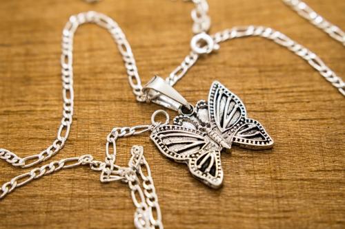 Imagen 1 de 4 de Dije De Plata Mariposa Monarca