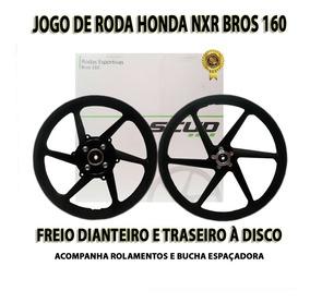 Roda Liga Leve Bros 160 Esdd Scud Freio Disco Nas Duas Rodas