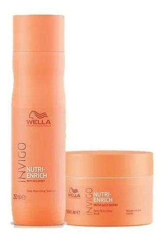 Wella Kit Enrich Shampoo 250ml E Mascara 150 Ml Promoção