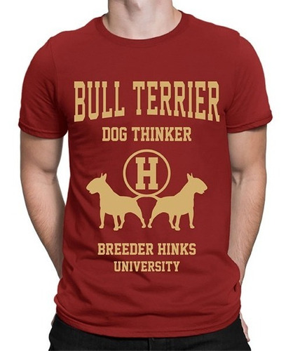 Remeras Hombre Bull Terrier Hf ® Dog Thinker Pack X 4