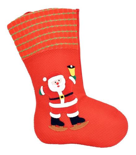 100 Bota Navideña Rojo Decoración Navidad 40 Cm X 7 Cm