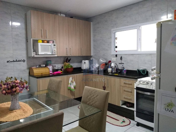 Casa Com 2 Dormitórios À Venda, 125 M² Por R$ 380.000,00 - Parque São Vicente - Mauá/sp - Ca0350